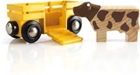 Brio Holz Eisenbahnwaggon Tierwagen mit Kuh 33406