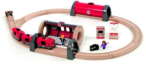 BRIO Holz Eisenbahn Metro Bahn Set 33513