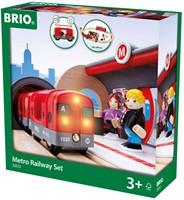 BRIO Holz Eisenbahn Metro Bahn Set 33513-2