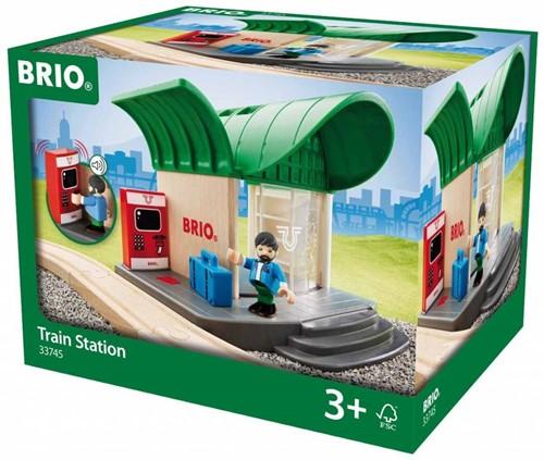 Brio Holz Eisenbahn Gebäude Bahnhof mit Sound 33745-3