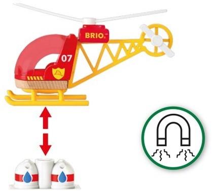 Brio Holz Eisenbahn Zubehör Feuerwehr-Hubschrauber 33797-3