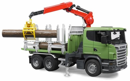 BRUDER Scania R-series Timber truck with 3 trunks Spielzeugfahrzeug