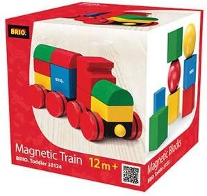 Brio Holzbausteine Magnetischer Holz-Zug 30124-2