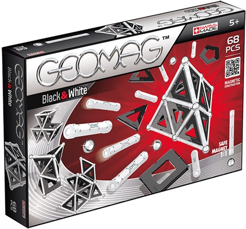 Geomag Panels Black&White 68 pcs Neodymium-Magnetspielzeug 68 Stück(e) Mehrfarbig