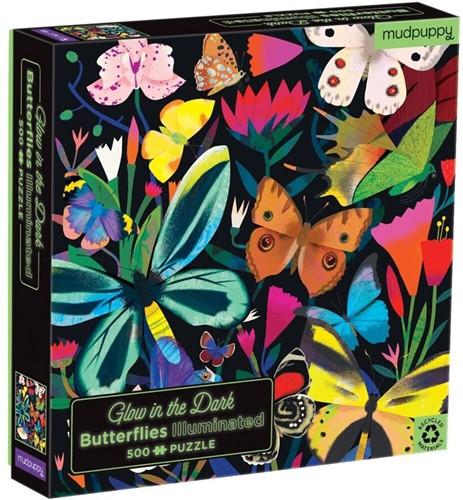 Mudpuppy Glow in Dark Puzzle/Butterflies Illuminated