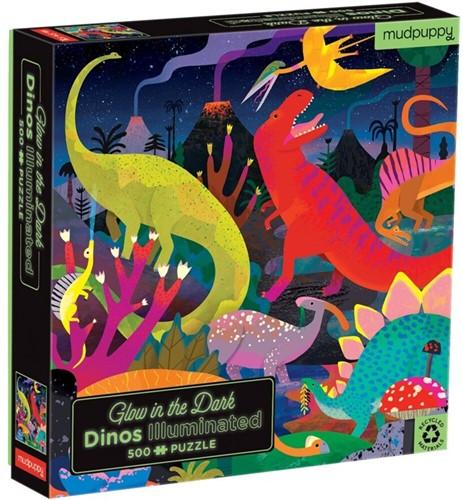 Mudpuppy Glow in Dark Puzzle/Dinosaurs Illuminated
