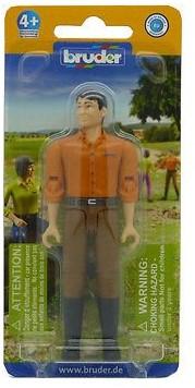 BRUDER Mann mit hellem Hauttyp und brauner Hose