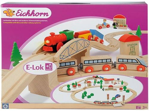 Eichhorn  Eisenbahn mit Brücke 81-tlg.-2