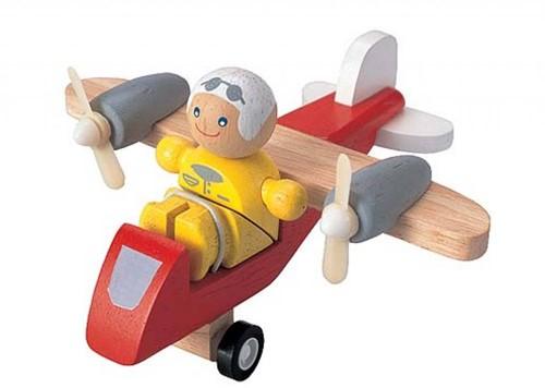 Plan Toys houten Propellervliegtuig
