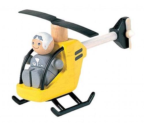 Plan Toys  Holz Spielfahrzeug Helikopter 6060