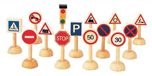 Plan Toys Set of traffic signs & lights