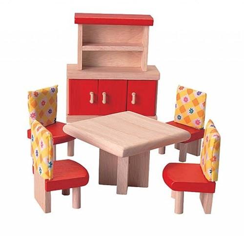 Plan Toys  Holz Puppenhaus Möbel Esszimmer - Neo