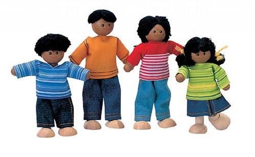 Plan Toys  Holz Puppenhaus Puppen Afroamerikanische Familie
