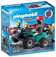 Playmobil City Action Ganoven-Quad mit Seilwinde