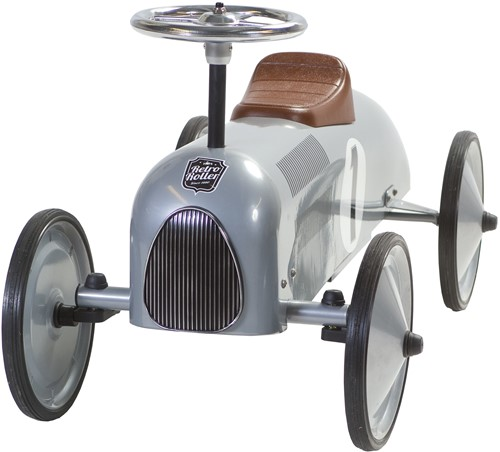 Retro Roller loopauto zilver Jean-2