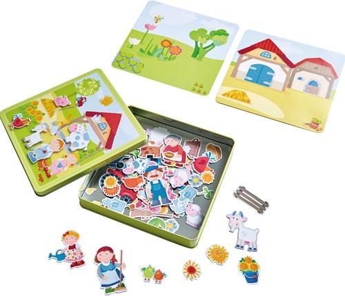 Haba Magnetspiel-Box Peters und Paulines Bauernhof