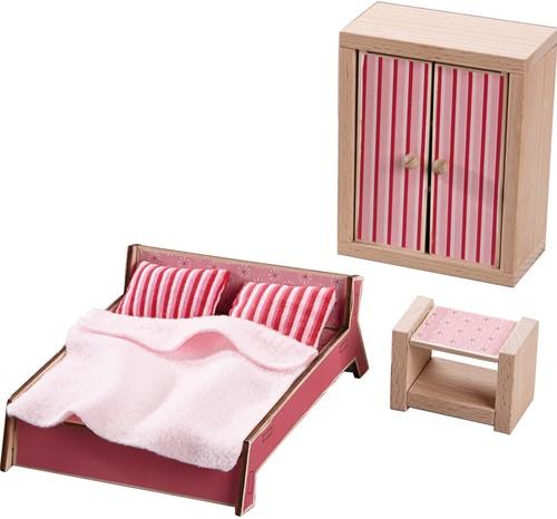 HABA Little Friends - Puppenhaus-Möbel Schlafzimmer für Erwachsene