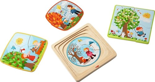Haba Holzpuzzle Lieblingsjahreszeit