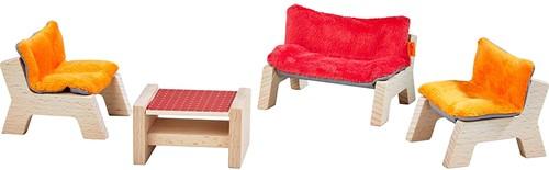 Haba Little Friends – Puppenhaus-Möbel Wohnzimmer