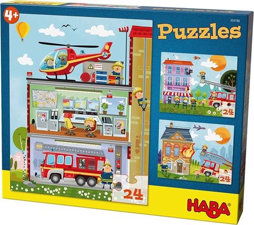 Haba Puzzles Kleine Feuerwehr