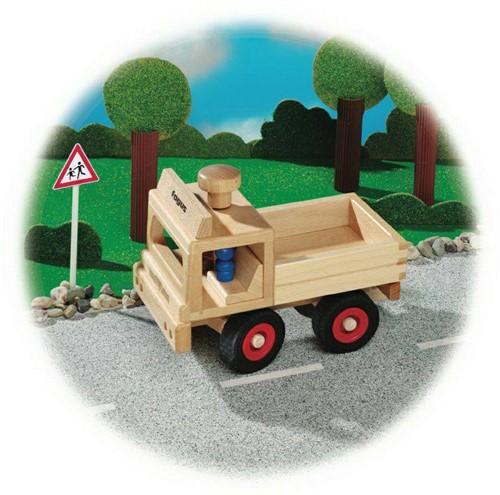 Fagus  houten speelvoertuig vrachtauto bestuurbaar 25cm-2