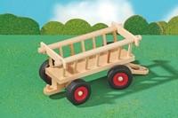 Fagus  houten speelvoertuig hooiwagen 29cm-2