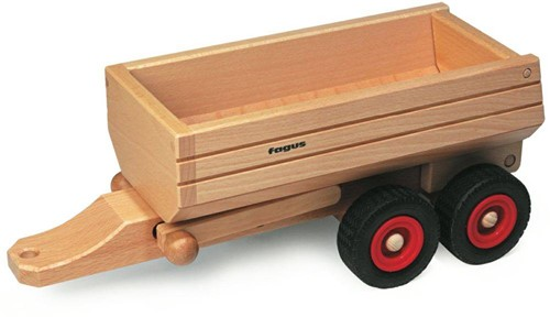 Fagus  houten speelvoertuig aanhanger kiepbaar 33cm-2