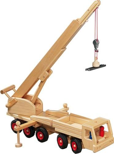 Fagus  houten speelvoertuig kraan 55cm