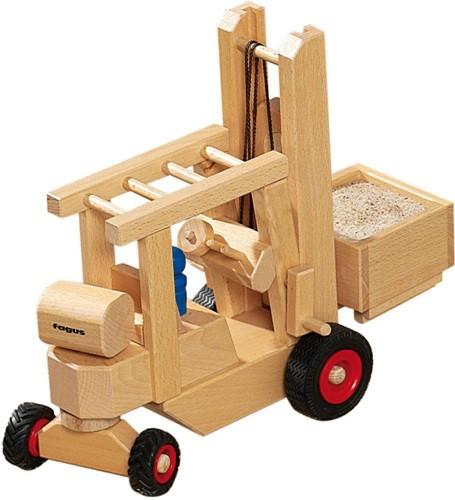 Fagus  houten speelvoertuig heftruck 29cm-3