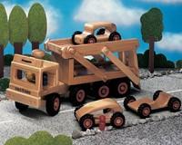 Fagus  houten voertuig Autotransport 40cm-2