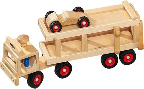 Fagus  houten voertuig Autotransport 40cm-3