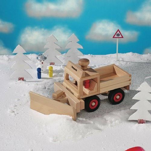 Fagus  houten speelvoertuig sneeuwschuiver-2