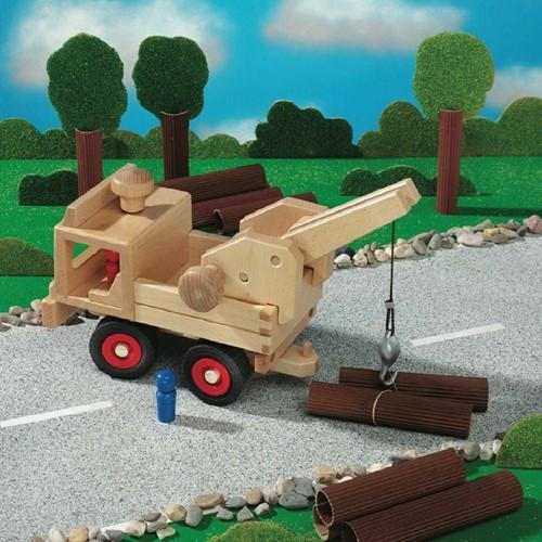 Fagus  houten speelvoertuig kraandeel-3