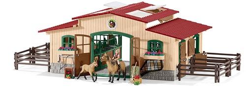 Schleich Farm Life Pferdestall mit Pferden und Zubehör