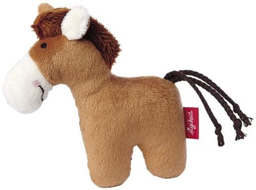 sigikid Mini-Rassel Pferd braun, Red Stars