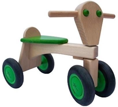 Van Dijk Toys Holz Laufrad Limettengrün - Buche