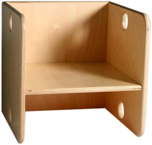 Van Dijk Kubusstoel v. kleuters 35x35x35 cm