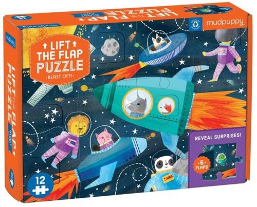 Mudpuppy Lift-the-flap Puzzle/Blast Off!