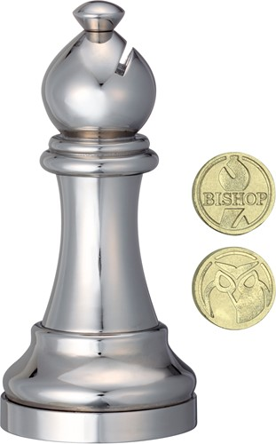 Cast Chess Puzzle - Bishop - silver