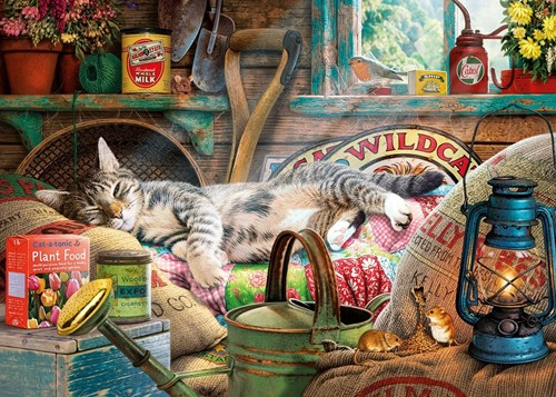 Gibsons Puzzle Snoozing in the Shed - 1000 Teile