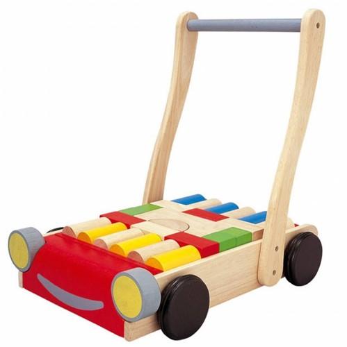 Plan Toys Holz Laufwagen Auto mit Bauklötzen-2