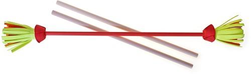Acrobat - Set Flower Stick PINK shaft, pink/yellow/orange flower + hand sticks
