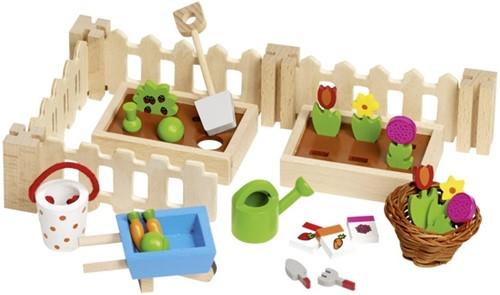 Goki 51729 Puppenstuben-Zubehör Puppenhaus-Garten-Set