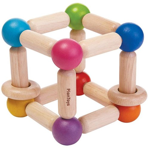 Plan Toys  Holzrassel Greifling Quadrat