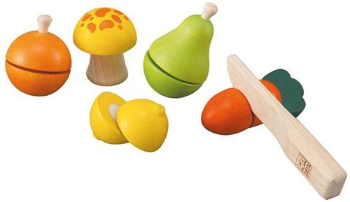 Plan Toys Holzküche Zubehör Obst und Gemüse Set