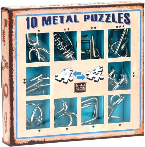 Eureka puzzel 10 Metal Puzzles Set Blue