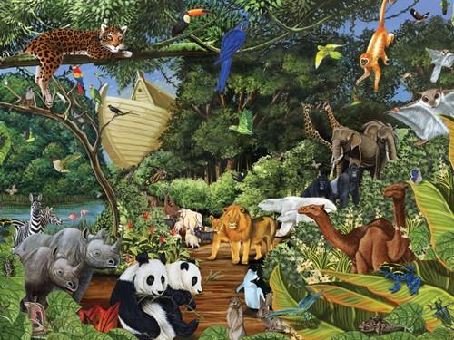 Cobble Hill Familie puzzle 350 Teile - Noah's Gathering