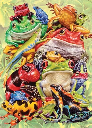 Cobble Hill Familie puzzle 350 Teile - Frog Pile