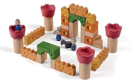 Plan Toys Holz Bausteine Burg
