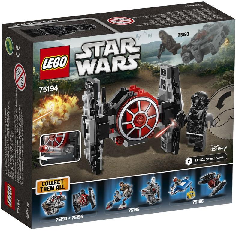 lego star wars first order tie fighter microfighter 75194 planet happy de. Black Bedroom Furniture Sets. Home Design Ideas